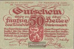Austria Catalog-number.: 58Steiermark (S138b) Landeskasse Steiermark Uncirculated 1921 50 Bright - Austria