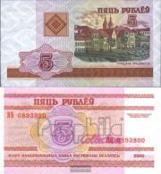 Weißrussland Pick-number: 22 Uncirculated 2000 5 Rublei - Belarus