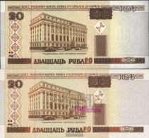 Weißrussland Pick-number: 24 Uncirculated 2000 20 Rublei - Belarus