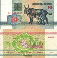 Weißrussland Pick-number: 5 Uncirculated 1992 10 Rublei Luxe - Belarus
