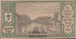 Berlin Notgeld: 92.1.7 Notgeld The City Berlin, District: 7.Charlottenburg Uncirculated 1921 50 Pfennig Berlin - [11] Local Banknote Issues