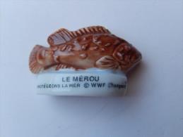 Fève -  POISSON - LE MEROU - Animali