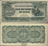 Birma Pick-number: 17b Uncirculated 1944 100 Rupees - Myanmar