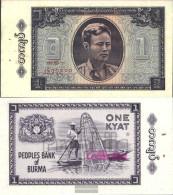 Birma Pick-number: 52 Uncirculated 1965 1 Kyat - Myanmar