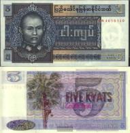 Birma Pick-number: 57 Uncirculated 1973 5 Kyats - Myanmar