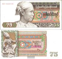 Birma Pick-number: 65 Uncirculated 1985 75 Kyats - Myanmar