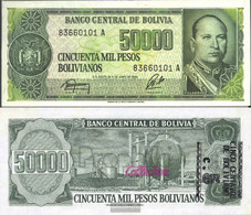 Bolivia Pick-number: 196 Uncirculated 1987 5 Centavo On 50000 Pesos - Bolivia