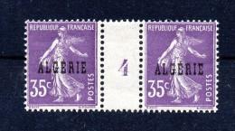 !!! ALGERIE : 35 C SEMEUSE PAIRE AVEC MILLESIME 4 NEUVE ** - Algeria (1924-1962)