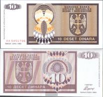 Bosnia-Herzegovina Pick-number: 133a Uncirculated 1992 10 Dinara - Bosnia And Herzegovina