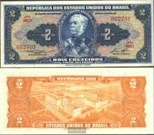 Brazil Pick-number: 151b Uncirculated 1958 2 Cruzeiros - Brazil
