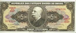 Brazil Pick-number: 176d Uncirculated 1962 5 Cruzeiros - Brazil
