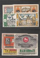 Brunswick (Lokalausg.) Notgeld: 155.4 Four Notgeldscheine The Braunschweigische Staatsbank Uncirculated 1921 10, 25, 50 - [11] Local Banknote Issues