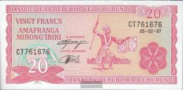 Burundi Pick-number: 27d (1997) Uncirculated 1997 20 Francs - Burundi