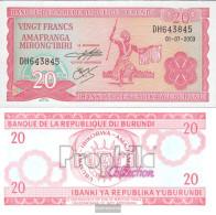Burundi Pick-number: 27d (2003) Uncirculated 2003 20 Francs - Burundi