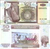 Burundi Pick-number: 36b Uncirculated 1999 50 Francs Paddelboot - Burundi