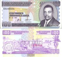 Burundi Pick-number: 37b Uncirculated 1997 100 Francs - Burundi
