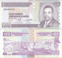 Burundi Pick-number: 37c Uncirculated 2001 100 Francs - Burundi