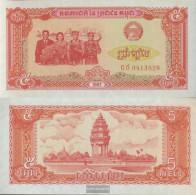 Cambodia Pick-number: 33 Uncirculated 1987 5 Riels - Cambodia