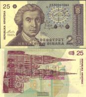 Croatia Pick-number: 19a Uncirculated 1991 25 Dinar - Croatie