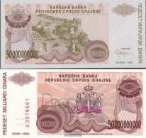 Croatia Pick-number: R29a Uncirculated 1993 50 Billion Dinara - Croatia