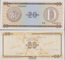 Cuba Pick-number: FX36 Uncirculated 1985 20 Pesos - Cuba