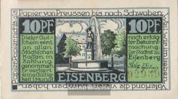 Eisenberg Notgeld: 322.1 A) 1. Mohrenbrunnen Notgeld The StAdt Eisenberg Uncirculated 1921 10 Pfenning Eisenberg - [11] Local Banknote Issues