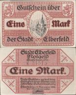 Elberfeld Notgeld: Notgeld The City Elberfeld Uncirculated 1918 1 Mark Elberfeld - [11] Local Banknote Issues
