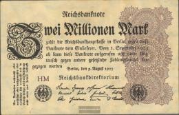 German Empire RosbgNr: 103a WZ. Hakensterne Uncirculated 1923 2 Million Mark - Tintin