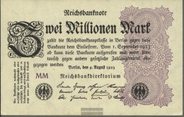 German Empire RosbgNr: 103e, Watermark Shaft Uncirculated 1923 2 Million Mark - [ 3] 1918-1933 : Weimar Republic