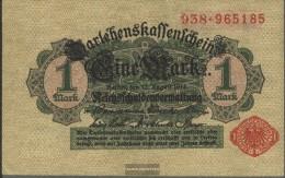 German Empire RosbgNr: 51c, With Vacuum Red Seal Uncirculated 1914 1 Mark - [ 2] 1871-1918 : Duitse Rijk