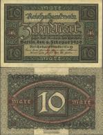 German Empire RosbgNr: 63a, 7stellige Kontrollnummer Uncirculated 1920 10 Mark - Ric Hochet