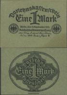 German Empire RosbgNr: 73a, Green Paper Uncirculated 1922 1 Mark - [ 3] 1918-1933 : Weimar Republic