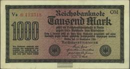 German Empire RosbgNr: 75q, Watermark Shaft 6stellige Kontrollnummer Uncirculated 1922 1.000 Mark - [ 3] 1918-1933 : Weimar Republic