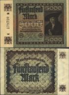 German Empire RosbgNr: 80a, Watermark Hakensterne Uncirculated 1922 5000 Mark - Soda