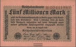German Empire Rosenbg: 104a, Empire Printing Used (III) 1923 5 Million Mark - [ 3] 1918-1933 : Repubblica  Di Weimar
