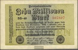 German Empire Rosenbg: 105c, Watermark Rings Used (III) 1923 10 Million Mark - [ 3] 1918-1933 : Weimar Republic