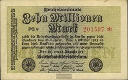 German Empire Rosenbg: 105d, Watermark Grid With 8 6stellige Kontrollnummer Used (III) 1923 10 Million Mark - [ 3] 1918-1933 : Weimar Republic