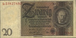 German Empire Rosenbg: 174a, Udr.-Bst.: Z, Series: L-P Used (III) 1929 20 Reichsmark - [ 3] 1918-1933 : Repubblica  Di Weimar