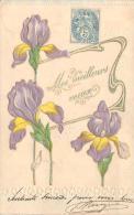 Carte Gaufrée - Mes Meilleurs Voeux, Fleurs - Fantaisies