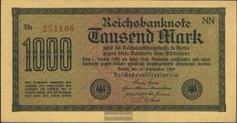 German Empire Rosenbg: 75d, Watermark Dornen Uncirculated 1922 1.000 Mark - [ 3] 1918-1933 : Weimar Republic