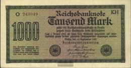 German Empire Rosenbg: 75i, Watermark Mäander Brown Kontrollnummer Used (III) 1922 1.000 Mark - [ 3] 1918-1933 : Weimar Republic