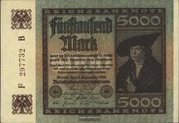 German Empire Rosenbg: 80d, Watermark Dornen Used (III) 1922 5.000 Mark - [ 3] 1918-1933 : Repubblica  Di Weimar