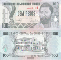 Guinea-Bissau Pick-number: 11 Uncirculated 1990 100 Pesos - Guinea-Bissau