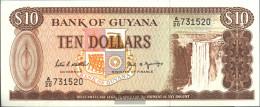 Guyana Pick-number: 23d Uncirculated 1989 10 Dollars - Guyana Francese