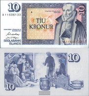 Iceland Pick-number: 48a Signature 42 Uncirculated 1981 10 Kronur - Iceland