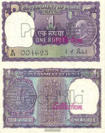 India Pick-number: 66 Uncirculated 1970 1 Rupee - India