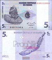 Kongo (Kinshasa) Pick-number: 81a Uncirculated 1997 5 Centimes - Unclassified