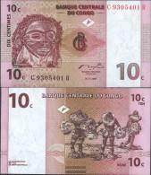 Kongo (Kinshasa) Pick-number: 82a Uncirculated 1997 10 Centimes - Congo