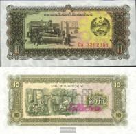 Laos Pick-number: 27r Uncirculated 1979 10 Kip - Laos