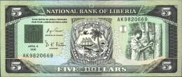 Liberia 20 Uncirculated 1991 5 Dollars Sail - Liberia